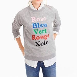 J.Crew French Colors Sweatshirt